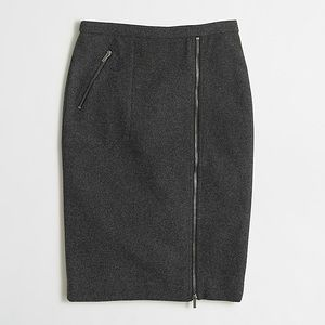 J. Crew Skirts - J.CREW Aymmetrical Zip Pencil Skirt in Wool